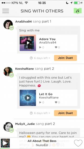 Sing Karaoke by Smule liedjes meedoen