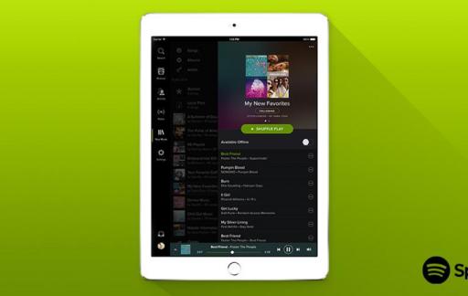 Spotify iPad vernieuwd