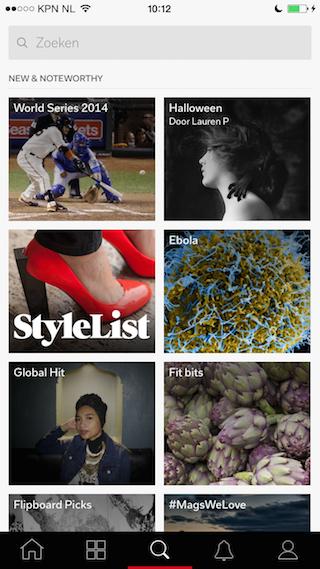 Flipboard 3.0 zoeken onderwerpen