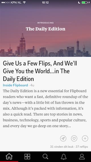 Flipboard 3.0 artikel lezen