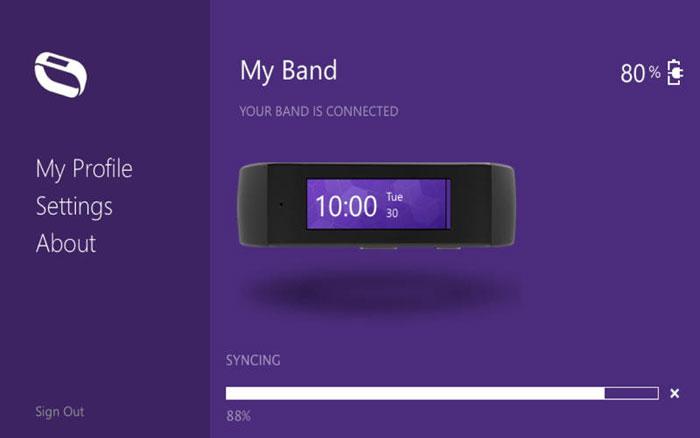 Microsoft Band app