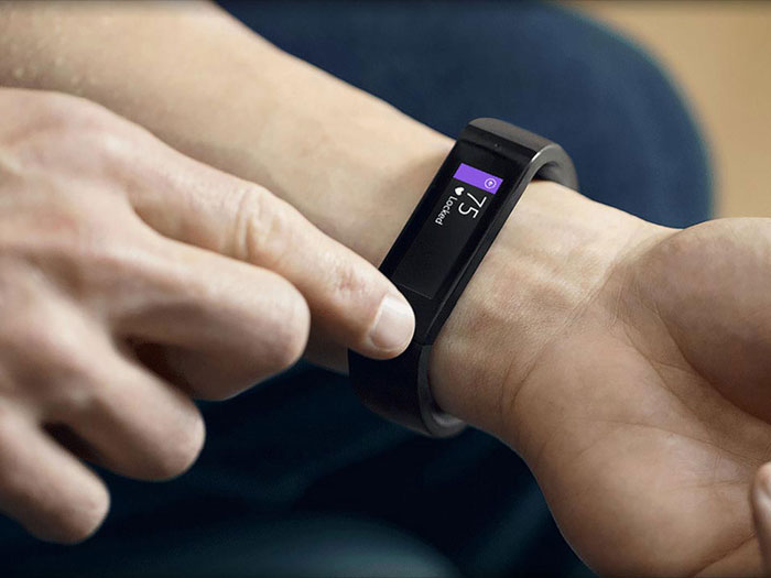 Microsoft Band arm