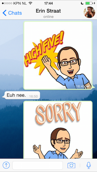 Bitmoji in WhatsApp review