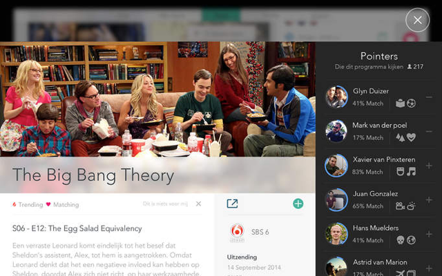 Pointers review iPad Big Bang Theory medekijkers