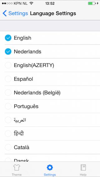 GO Keyboard review taal instellen