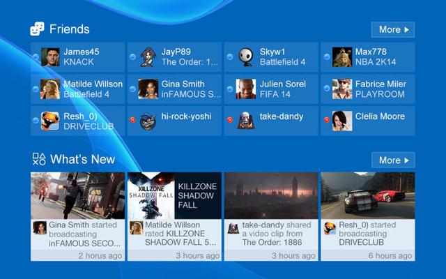 Sony PlayStation App iPad voorpagina