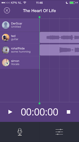 Composr samen muziek maken iPhone iPad paars