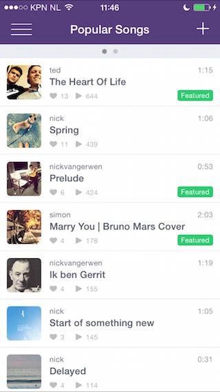 Composr samen muziek maken iPhone populaire fragmenten