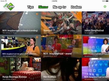 NPO Zapp nieuwe programma's kijken op iPad