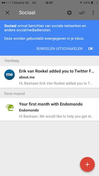 Google Inbox bundel