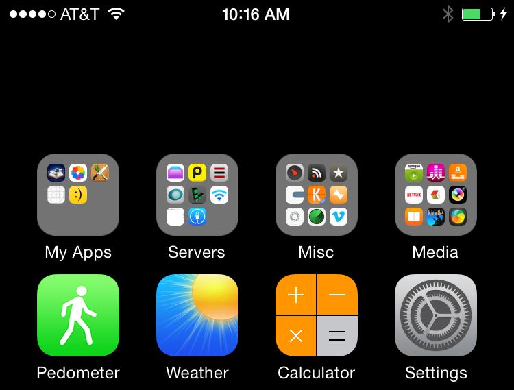 iphone 6 makkelijker bedienen met onzichtbare app iconen. Black Bedroom Furniture Sets. Home Design Ideas
