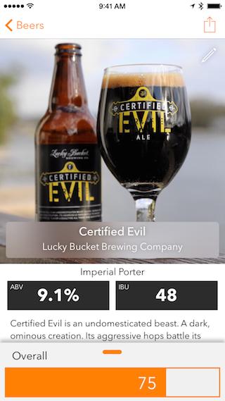 BeerTap review bier invoeren