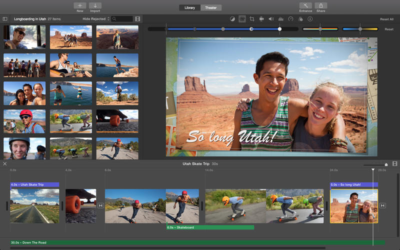 iMovie Mac OS X Yosemite apps