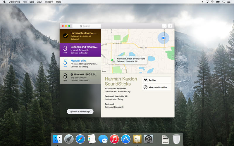 Mac OS X Apps Deliveries