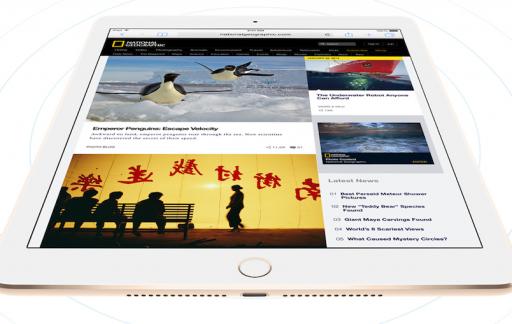 iPad Air 2 voorkant schuin