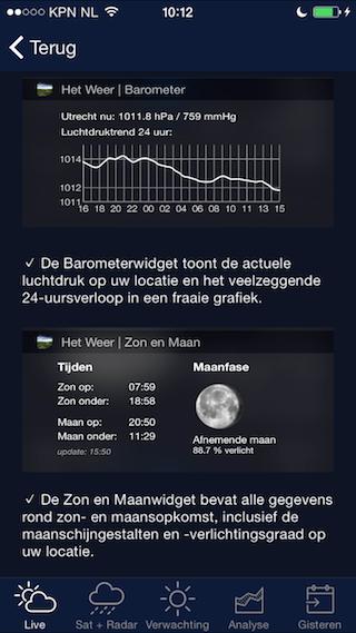 Het Weer in Nederland widget uitbreiden
