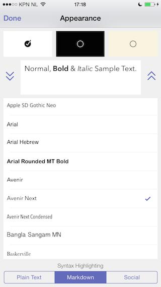 Drafts 4 review lettertype kiezen