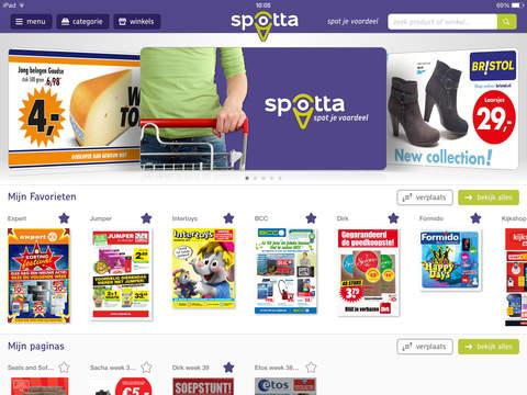 Spotta folderapp iPad versie 3.0 sneller zoeken