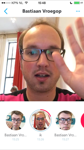 Skype Qik review video Bart