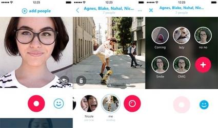 Skype Qik iPhone screenshots