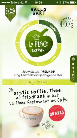 La Place iPhone-app hoofdscherm