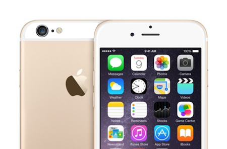 iPhone 6 sticker goud achterkant