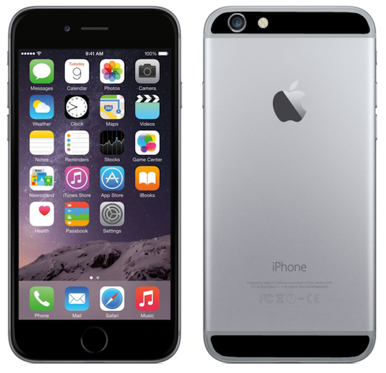 iPhone 6 sticker spacegrijs zwart