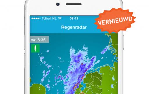 Weerplaza iPhone vernieuwde regenradar