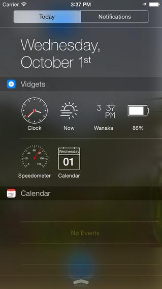 Vidgets review widget in berichtencentrum iOS 8