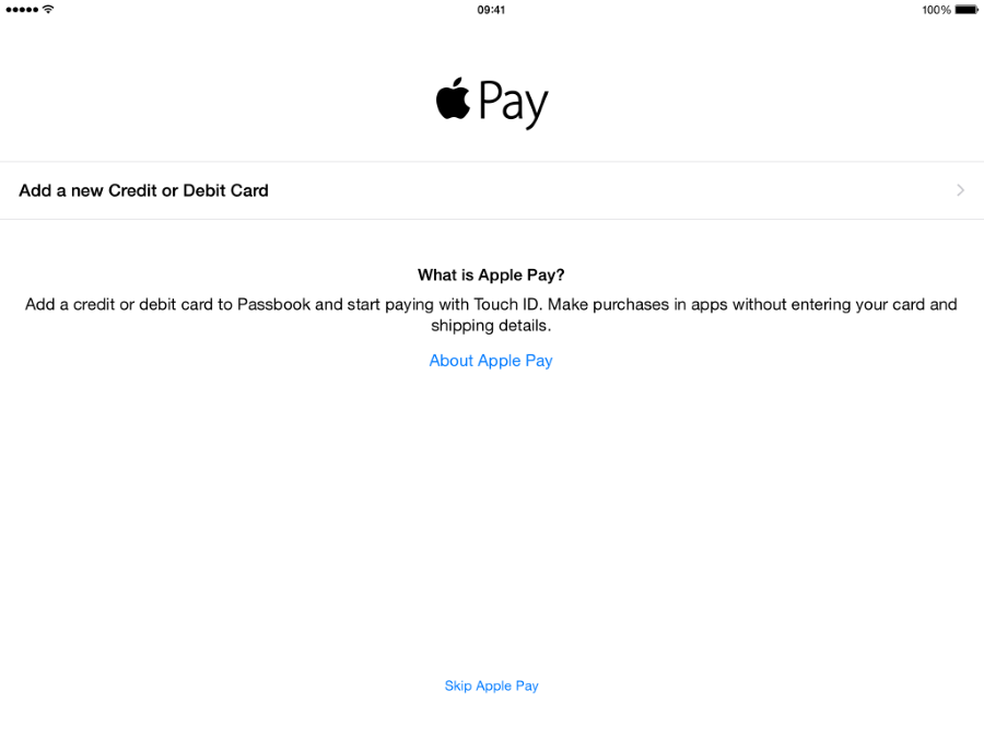 Apple Pay iPad (Custom)