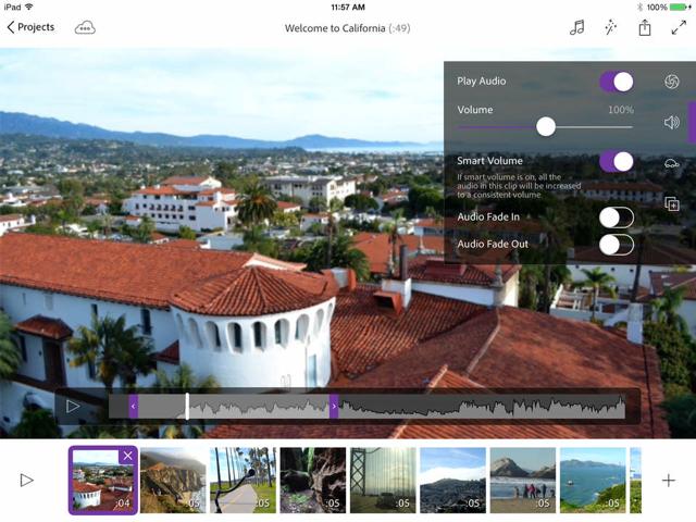 Adobe Premiere Clip iPad