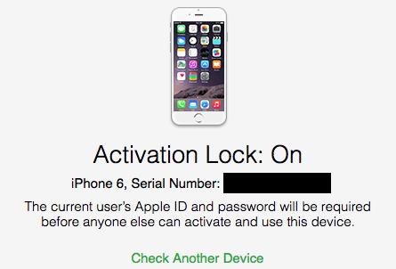 iPhone activeringsvergrendeling
