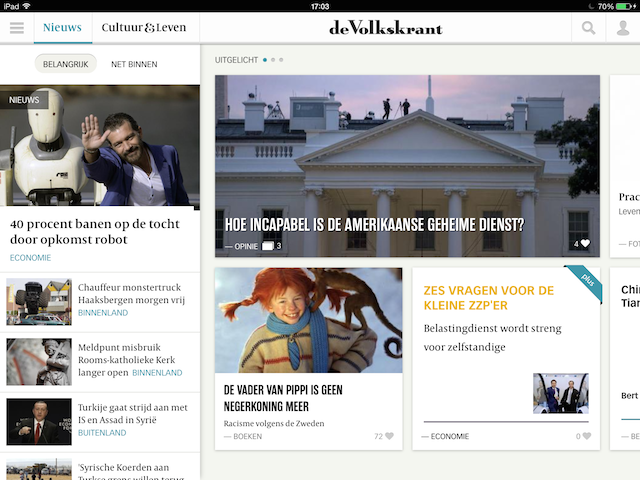 de Volkskrant iPad review hoofdpagina 640
