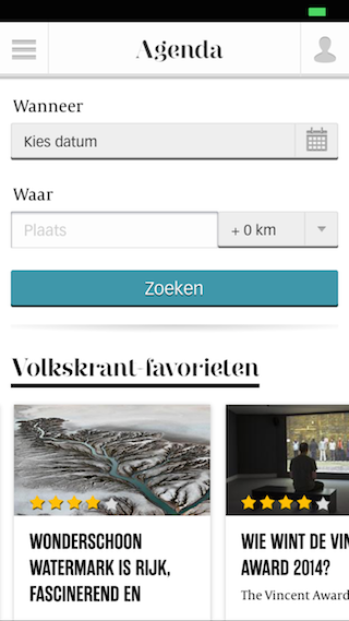 Volkskrant iPhone uitagenda