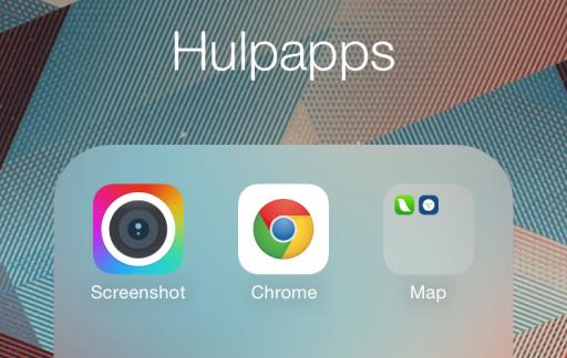 Nested folders iOS 8