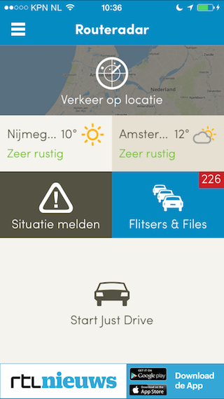 Routeradar review dashboard iPhone