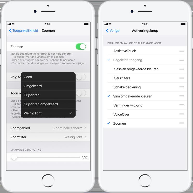 Extra dimfunctie in iOS