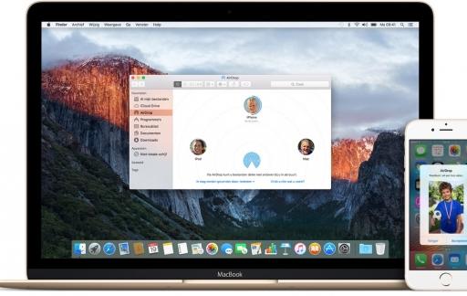 AirDrop laat je bestanden uitwisselen tussen Macs en een iOS-apparaat.