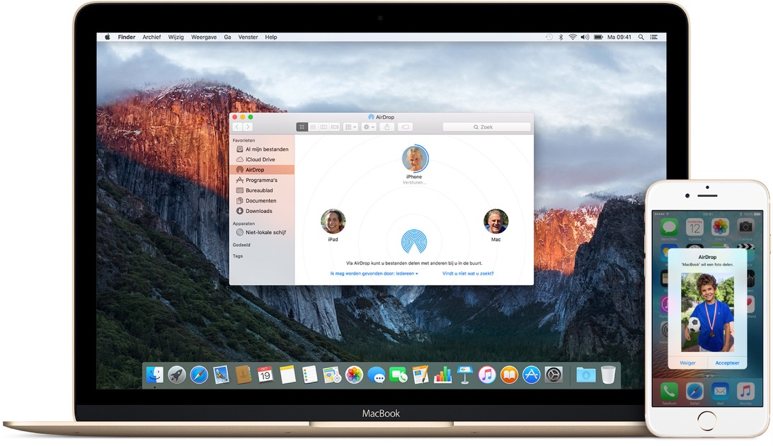 AirDrop foto's versturen tussen iOS en Mac