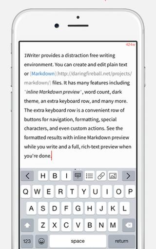 1Writer iPhone iPad totaal vernieuwd