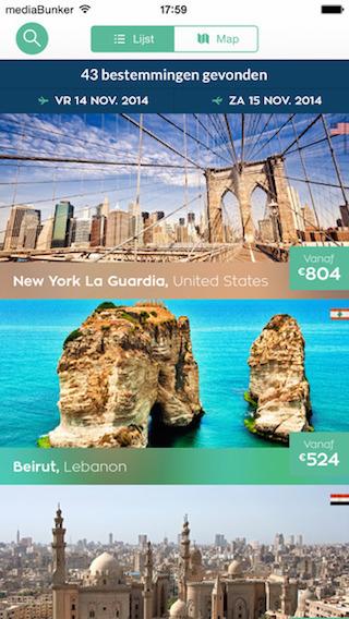 Genius Travel steden onder elkaar