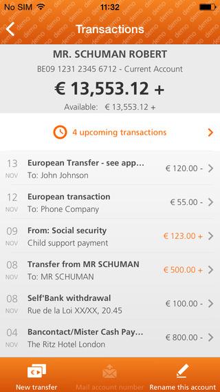 ING Smart Banking transacties