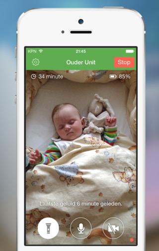 Babyfoon 3G live meekijken in babykamer