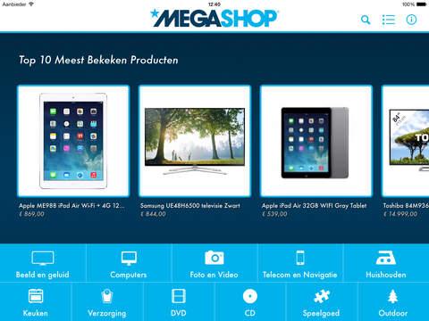 Megashop iPad