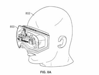 Apple patent bril op hoofd iOS