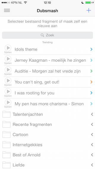 Dubsmash iPhone trending geluiden