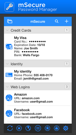mSecure Password Manager iOS