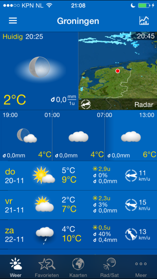 WeatherPro iPhone beste weerapps iOS