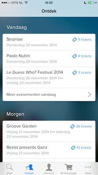 TicketSwap iPhone kaarten Stromae 320