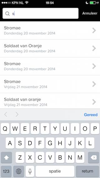 TicketSwap zoekfunctie iPhone